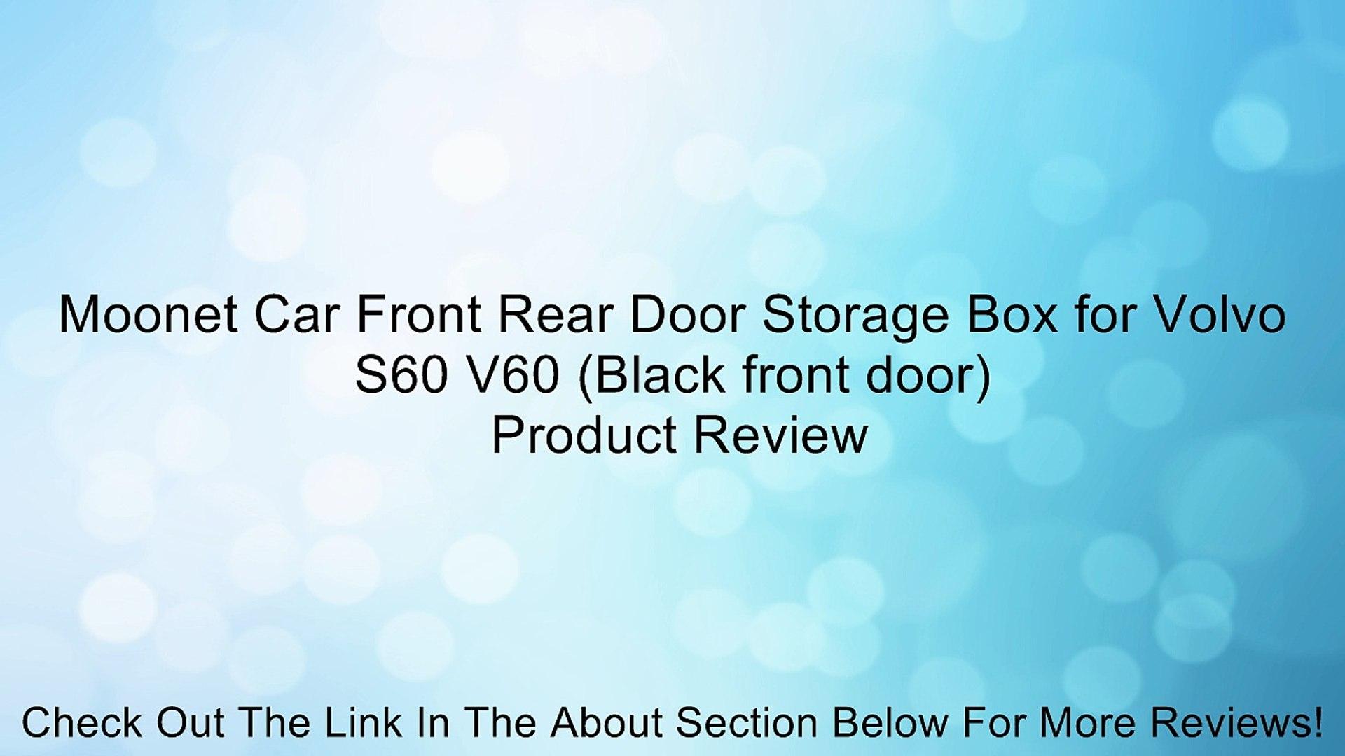 Moonet Car Front Rear Door Storage Box for Volvo S60 V60 (Black front door) Review