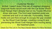 2 Pcs Car Vehicle Seat Headrest Shopping Bag Coat Hanging Hanger Hook (Black) Review