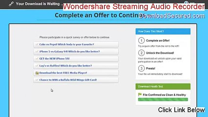 crack pour wondershare streaming audio recorder