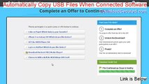 Automatically Copy USB Files When Connected Software Crack - automatically copy usb files when connected software serial (2015)
