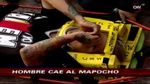 Bomberos rescató a joven ebrio que cayó a la ribera del río Mapocho - CHV Noticias