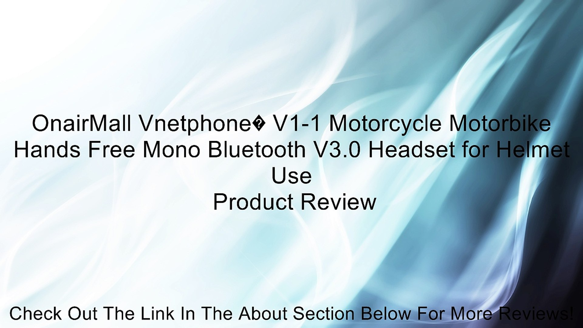 OnairMall Vnetphone V1-1 Motorcycle Motorbike Hands Free Mono Bluetooth  V3 0 Headset for Helmet Use Review