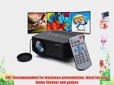 Aketek? 100 150 Hdmi Portable Mini Portable LED Projector Home Cinema Theater Av VGA USB Sd