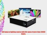 Aketek? Full HD Multimedia LED LCD Portable Projector HDMI AV VGA Port USB - White 50'~120'Mini1500Lm