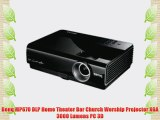Benq MP670 DLP Home Theater Bar Church Worship Projector XGA 3000 Lumens PC 3D