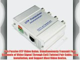 4ch Passive UTP Video Balun. Simultaneously Transmit Four Channels of Video Signal Through