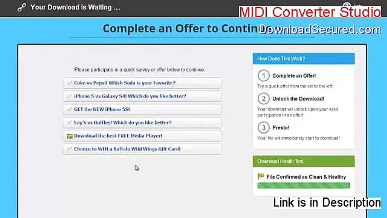 MIDI Converter Studio Serial [Free of Risk Download]