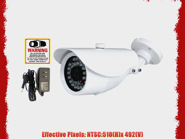 Evertech Cctv Infrared Security Cameras – 30 Ir Led(82ft Night Vision) Cctv Camera 1/3 Inch