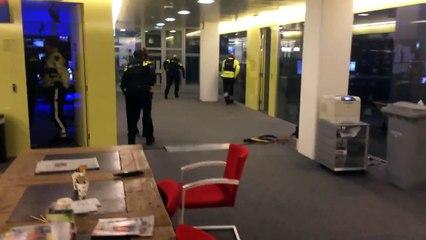 Arrestation de l'homme armé sur au JT de 20h du studio 8