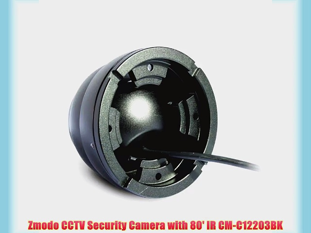 Zmodo CCTV Security Camera with 80′ IR CM-C12203BK