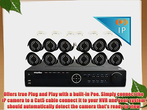 LaView LV-KN996P1612A4-T3 Premium IP 16 Channel Security System with 12 IP 1080P Security Cameras