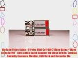 RioRand Video Balun - 8 Pairs Mini Cctv BNC Video Balun - Video Transceiver - Cat5 Cat5e Balun