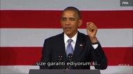 Obama'nın sözünü kesen bir adama cevabı - Türkçe Altyazılı