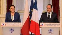Déclaration conjointe à la presse avec Mme Ewa Kopacz, présidente du Conseil des ministres de Pologne