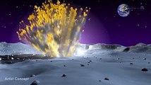 La NASA muestra imágenes del impacto de un asteroide en la Luna