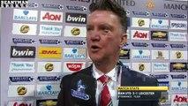 Man Utd 3-1 Leicester - Louis van Gaal Post Match Interview - Robin van Persie Was Offside