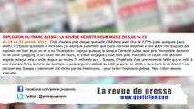 P. Jovanovic  Revue de presse spéciale BCE  Banque Nationale Suisse