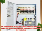 GW Security GWP1218-15A 18Ch 12 Volt 15 Amp (12V 18 Port 15A) Power Distribution Box for Security