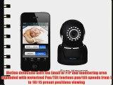 HooToo? HT-IP210F Wireless IP Network Surveillance Camera (Black 16-LED Night Vision Two-way