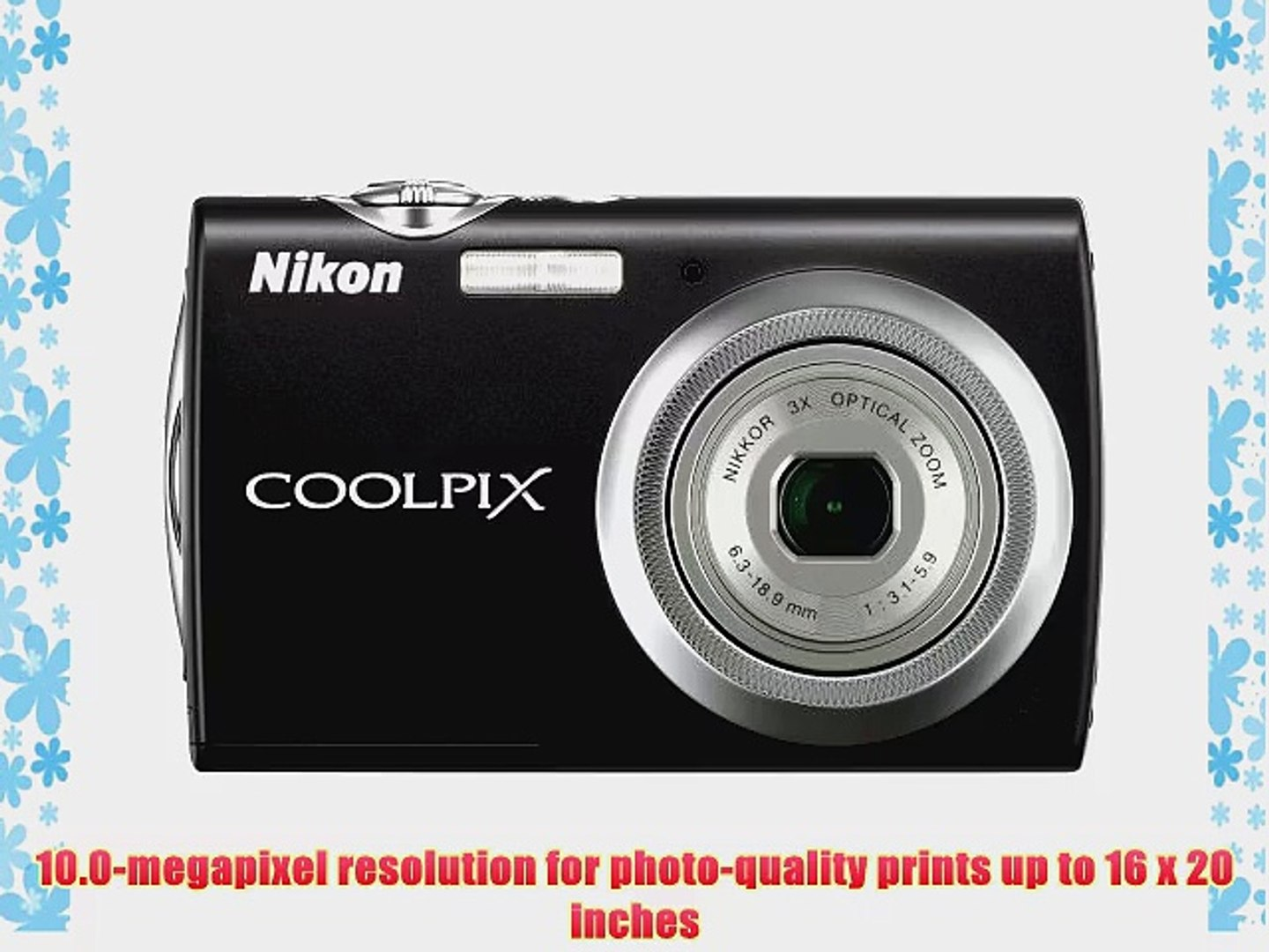 Nikon Coolpix S230 10MP Digital Camera with 3x Optical Zoom and 3 inch Touch Panel LCD (Jet