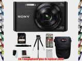 Sony DSCW830/B DSCW830 W830 20.1 Digital Camera with 2.7-Inch LCD (Black)   Sony Flip Style
