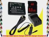 Battery Kit for Panasonic Lumix DMC-ZS10 DMC-ZS1 DMC-ZS3 DMC-ZS5 DMC-ZS6 DMC-ZS7 Includes DMW-BCG10