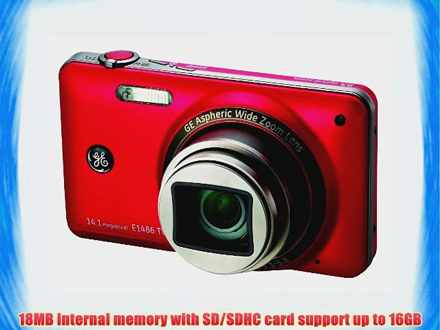GE E1486TW 14MP Digital Camera with 8X Optical Zoom and 3.0-Inch Touch Panel LCD with Auto