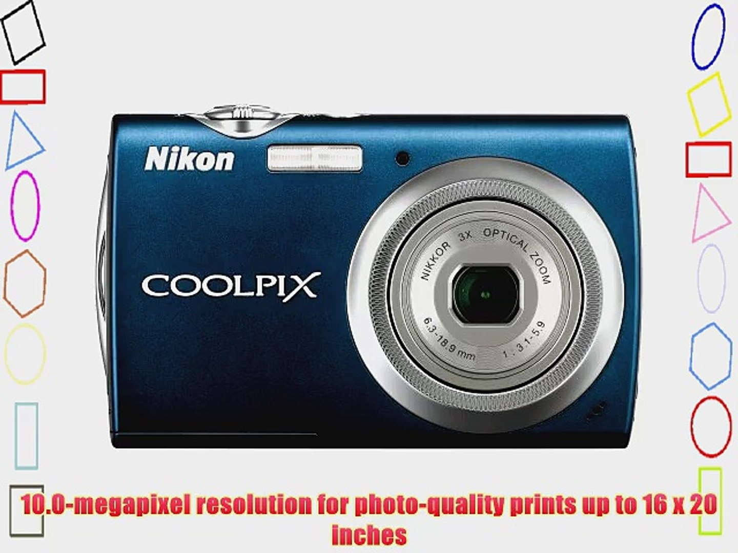 Nikon Coolpix S230 10MP Digital Camera with 3x Optical Zoom and 3 inch Touch Panel LCD (Night