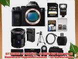 Sony Alpha A7S Digital Camera Body with Sonnar T* FE 55mm f/1.8 ZA Lens   64GB Card   Case