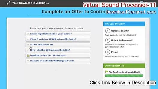 Virtual Sound Processor-11(VSP-11) Download - Risk Free Download