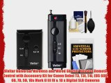Vivitar Universal Wireless and Wired Shutter Release Remote Control with Accessory Kit for