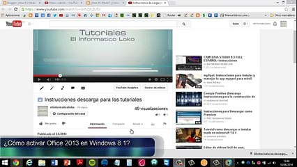 ¿Cómo activar Microsoft Office 2013 en Windows 8.1 32 _ 64 bits _ [FULL][ESPAÑOL][MEGA] Tutoria