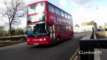 Buses, Trucks and traffic at North Street Roundabout Romford, East London 29-01-15 (HD)