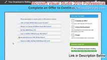 Microsoft Visual Studio 2010 Professional Cracked