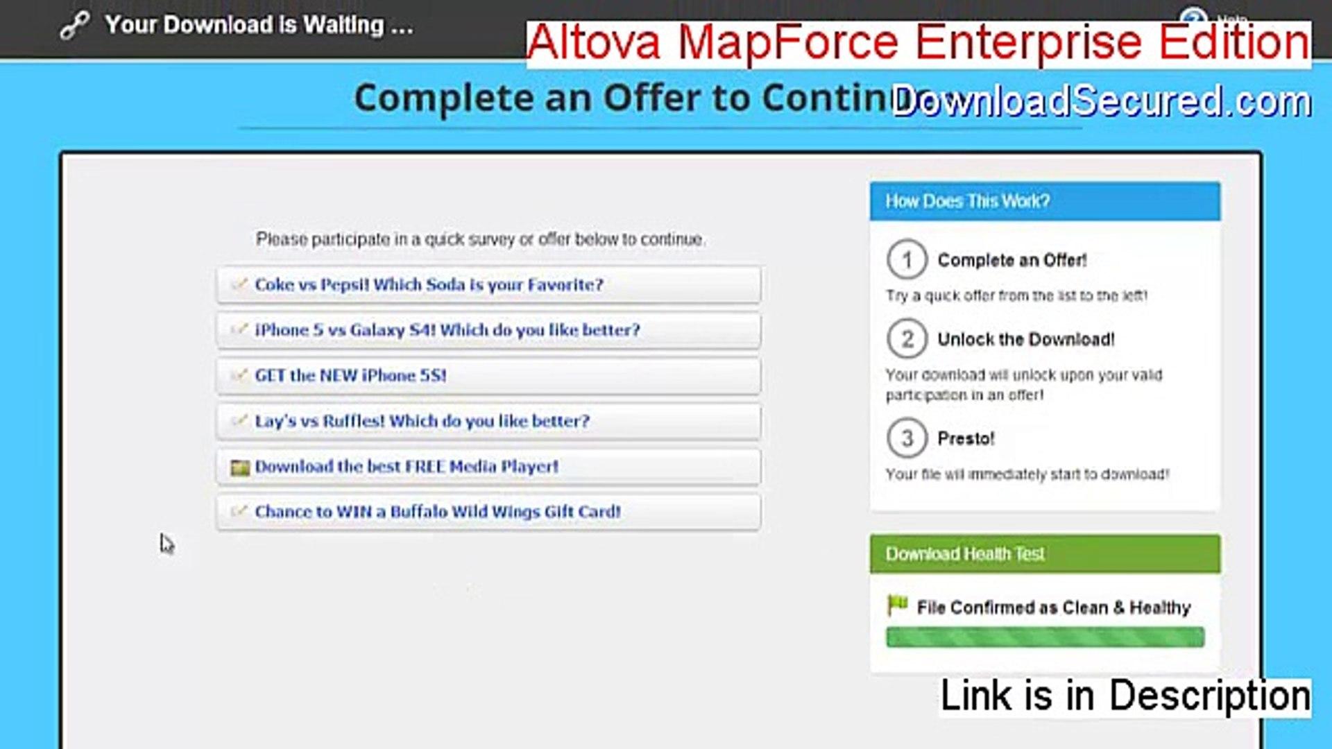 Altova MapForce Enterprise Edition Key Gen - altova mapforce enterprise  edition 2011 (2015)