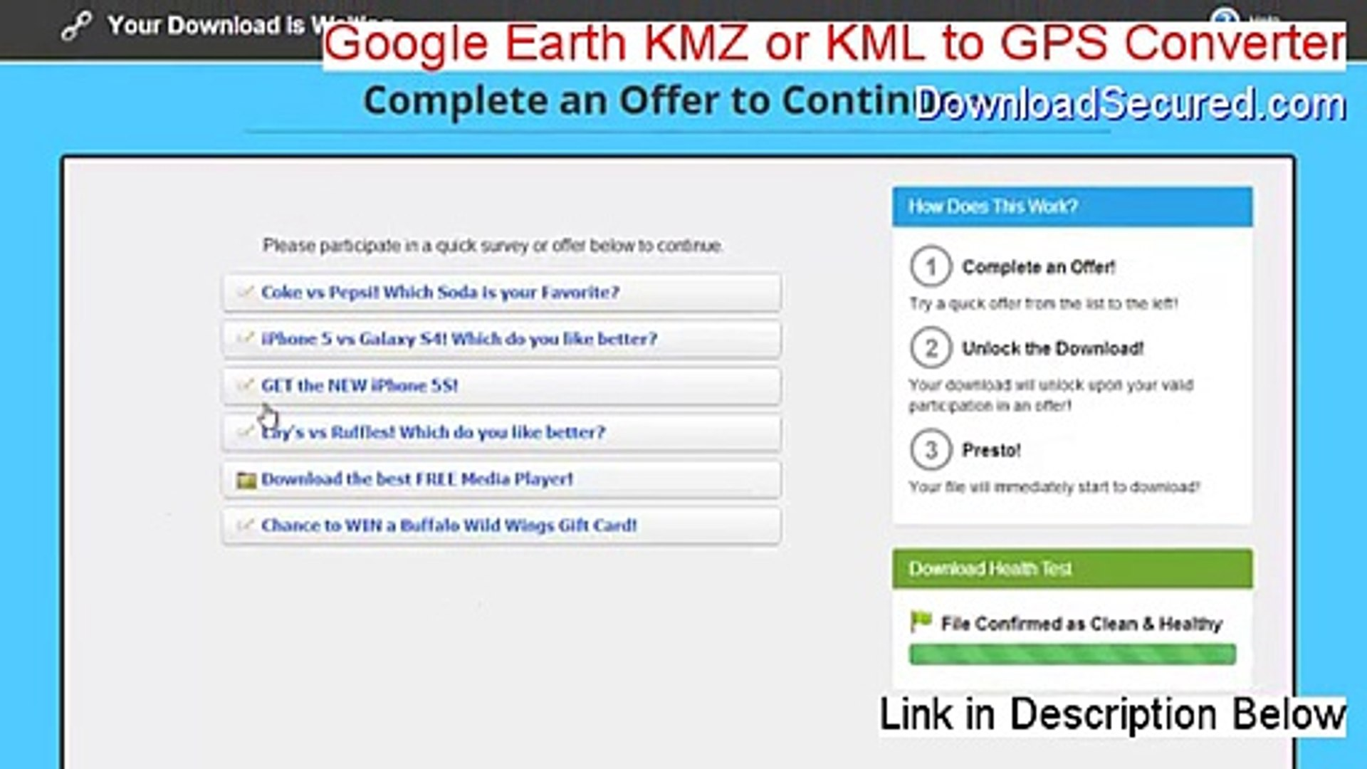 Google Earth KMZ or KML to GPS Converter Cracked - Instant Download