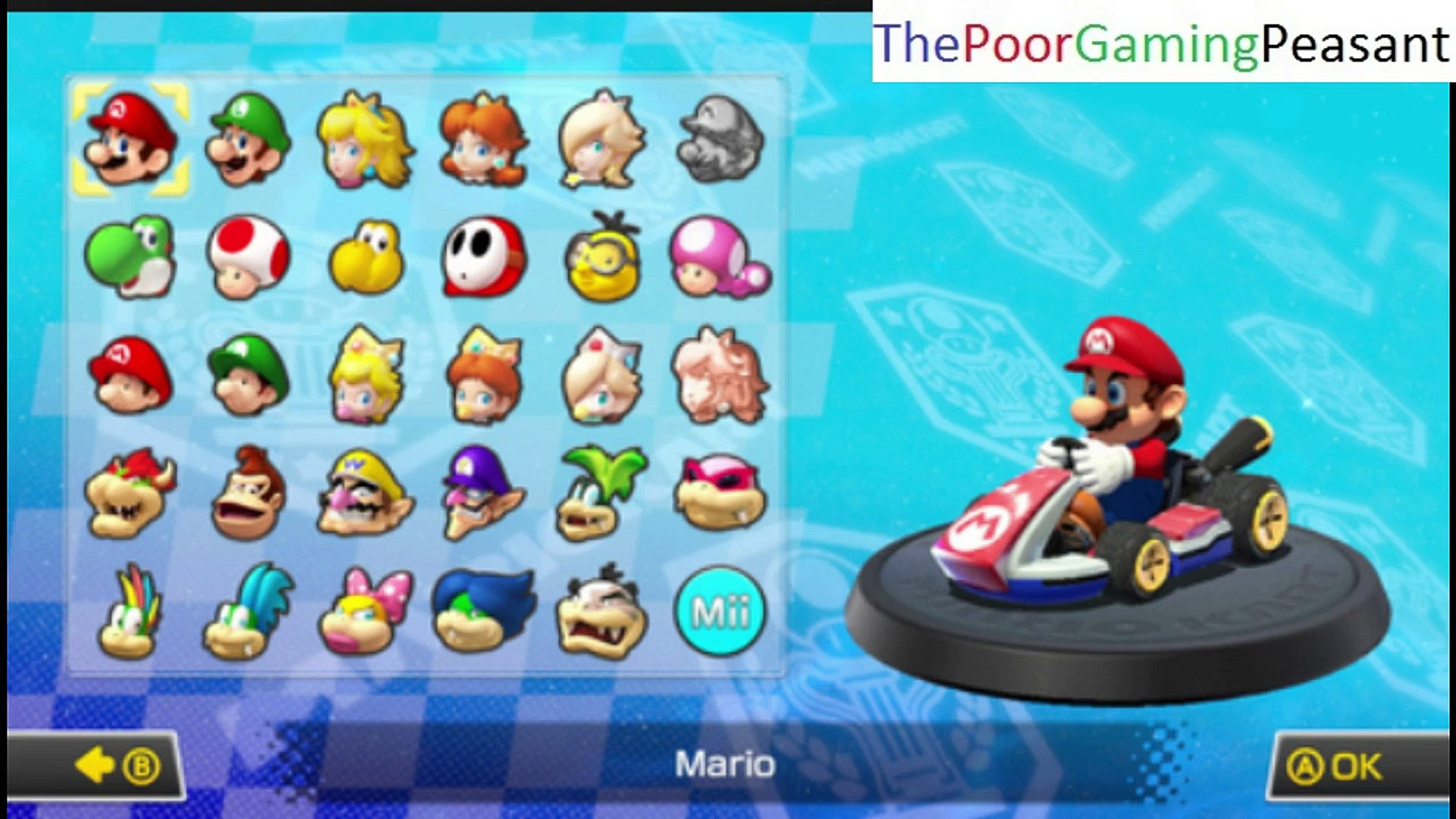 Tutorial For How To Unlock All The Default Secret Characters In Mario Kart 8 For The Wii U