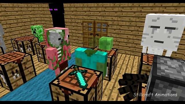 Minecraft Canavar Okulu - İşçilik
