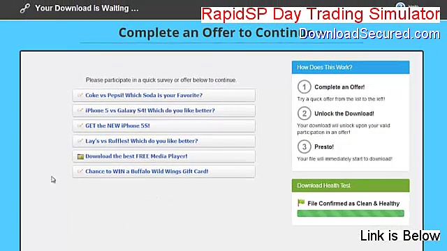 RapidSP Day Trading Simulator Full (Download Here 2015)
