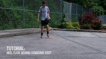 Soccer Heel Flick Tutorial | Heel Flick Behind Standing Foot | Freestyle Football Trick