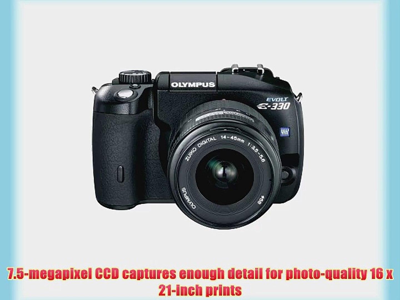Olympus Evolt E330 7 5MP Digital SLR Camera with 14-45mm f3 5/5 6 Zuiko  Digital Zoom Lens