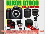 Nikon D7000 16.2MP DX-Format CMOS Digital SLR w/ Nikon 18-105mm f/3.5-5.6 AF-S DX VR ED Nikkor