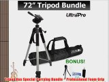 PRO 72-inch TRIPOD For The Canon PowerShot ELPH 160 IS ELPH 170 IS ELPH 100 HS 110 HS 130 IS