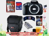 Canon EOS Rebel T5i 18.0 MP CMOS Digital Camera with Full HD Movie (Body)   7pc Bundle 16GB