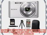 Sony DSCW830 DSCW830 W830 20.1 Digital Camera with 2.7-Inch LCD (Silver)   Sony Flip Style