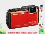 Nikon COOLPIX AW120 Waterproof Digital Camera (Orange)   16GB Memory Kit   Standard Large Digital