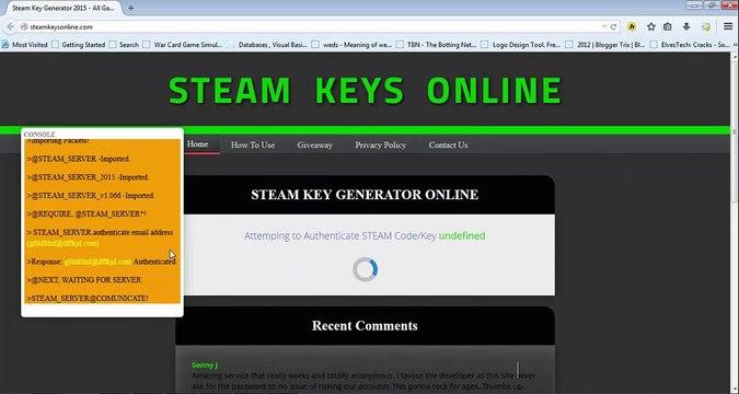Free Steam Key Generator Online 2015 | Call Of Duty (COD) Ghost Steam Keys