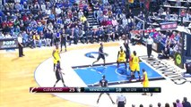 LeBron James Explodes to the Basket - Cavaliers vs Timberwolves - Jan 31, 2015 - NBA Season 2014-15