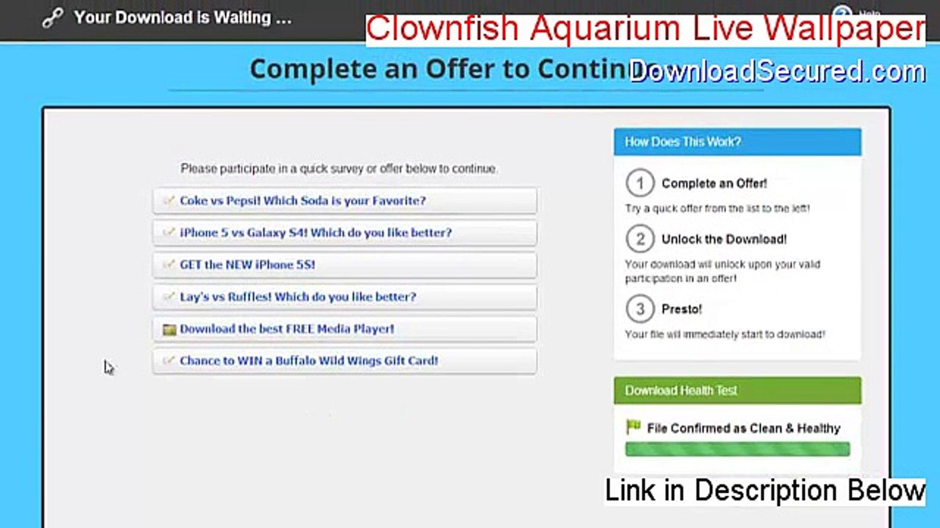 Clownfish Aquarium Live Wallpaper & Screensaver Keygen - Legit Download  [2015]
