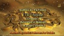 SURAH AL FATIHAH [Chapter 1] Recited by AbdulRahman As Sudais